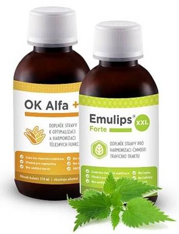 OK Alfa+115 ml, Emulips Forte XXL 120 ml (harmonie trávení)