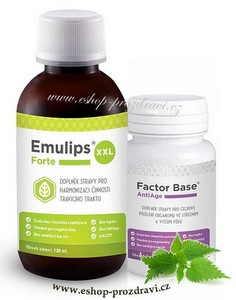 Emulips Forte XXL 120 ml + Factor Base Antiage 60 tbl.