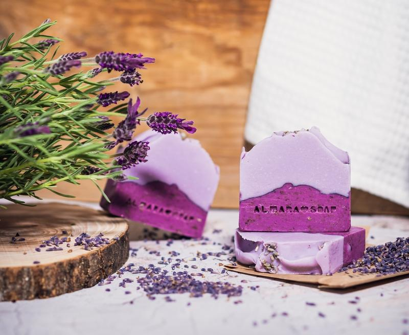 Almara Soap - mýdlo Lavender Fields 100 g,  sůl Time to Relax 450 g