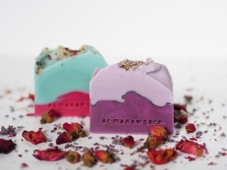 Almara Soap - mýdla / Lavender Fields 100 g, Wild Rose 100 g