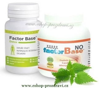 Factor Base NO 150g, Factor Base DETOX 60 tbl.