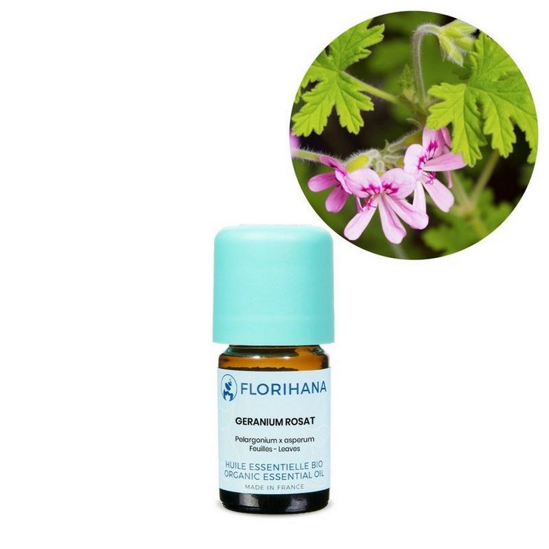 Florihana - éterický olej bio Geranium růžové 5g (Pelargonium x asperum)