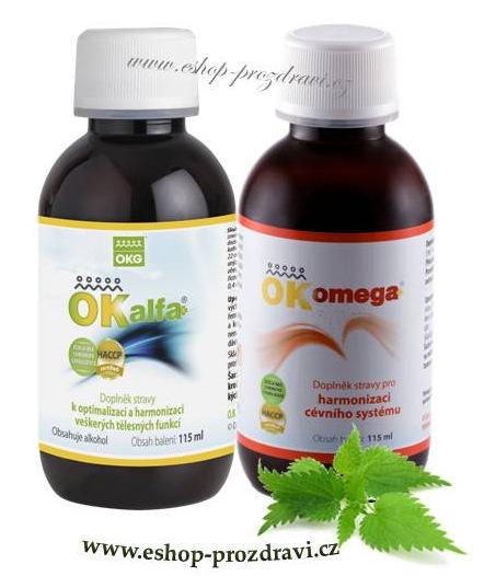 OK Alfa+115 ml OK Omega+ 115 ml (pleť a kožní potíže)