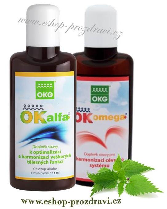 OK Alfa+ 115 ml, OK Omega+ 115 ml ( sada na ekzém)
