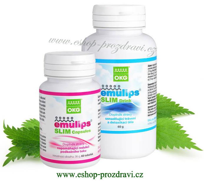 OKG Emulips Slim (60 kapslí + 60 g bylinné směsi)