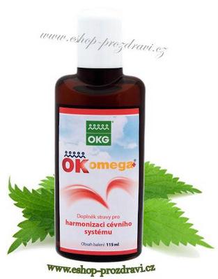 OK Omega+ 115 ml (Cévy, ekzém, vlasy)