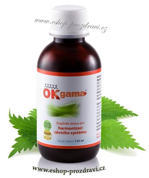 OK Gama+ 115 ml (Srdce, cévy, klouby, vápník, vlasy)