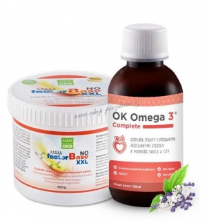 OKG Factor Base NO 400 g, Omega-3 Complete 120 ml