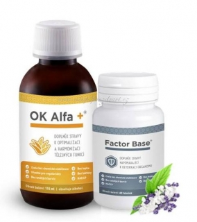 OK Alfa+ 115 ml OKG Factor Base 60 tbl.