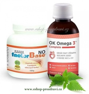OKG Factor Base NO 150g,  Omega-3 Complete 120 ml