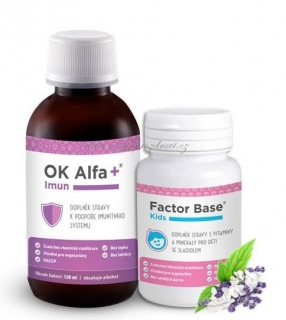 OK Alfa+ Imun 120 ml + Factor Base Kids 60 tbl.